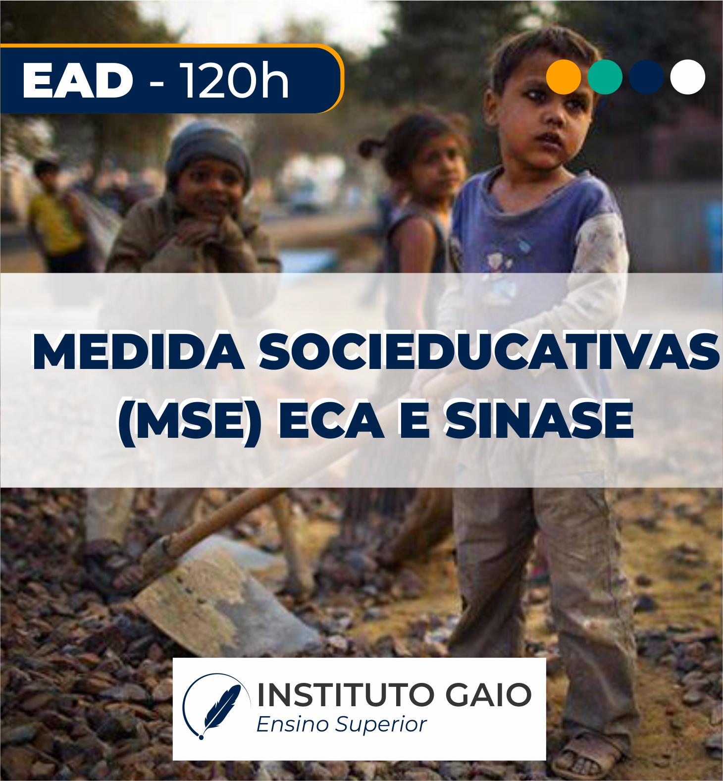 MEDIDAS SOCIOEDUCATIVAS, ECA E SINASE – 120h – EAD