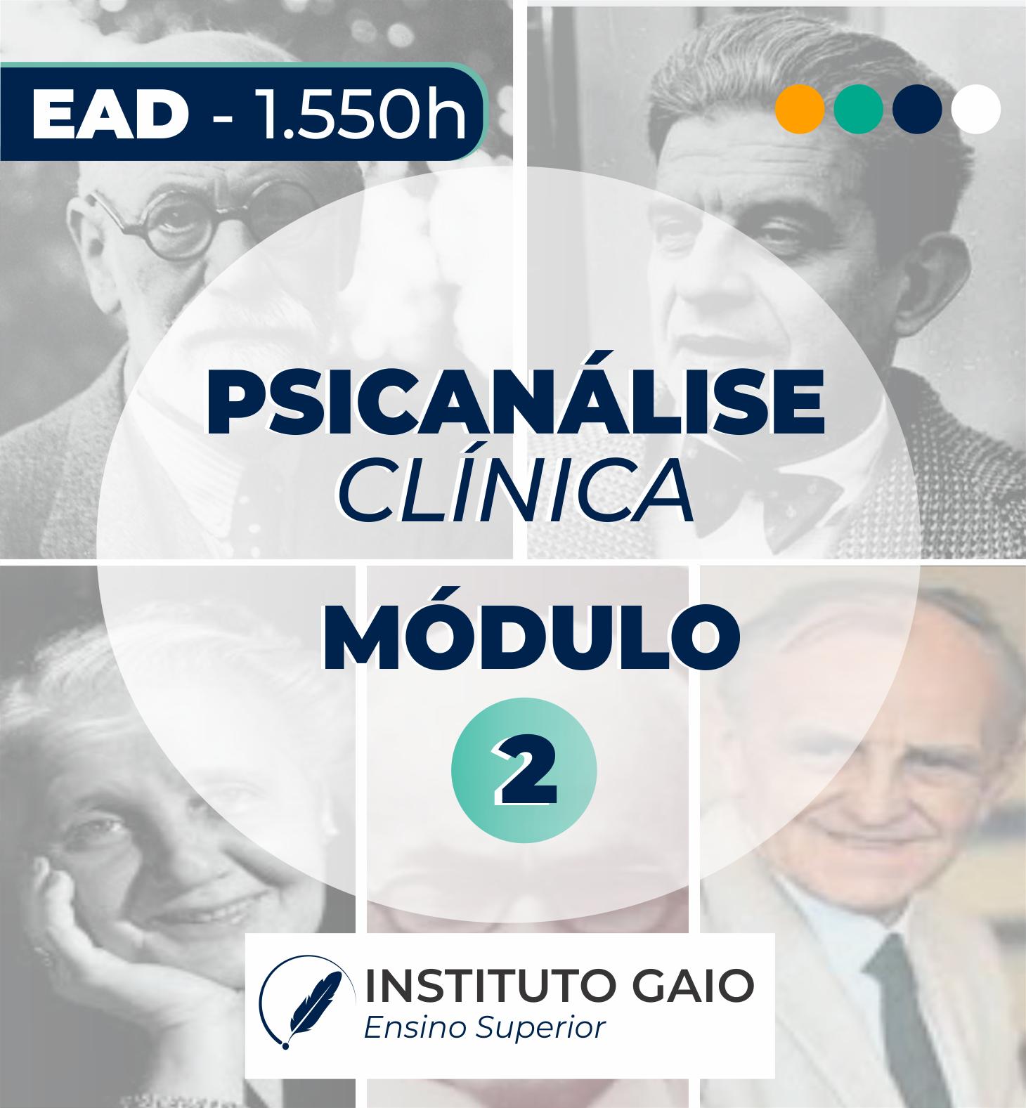 FORMAÇÃO EM PSICANÁLISE CLÍNICA – EAD – MÓDULO 2