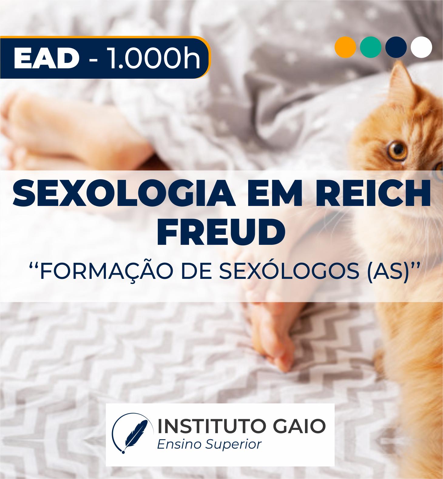 FORMAÇÃO LIVRE EM SEXOLOGIA EM FREUD E REICH – 1.000h