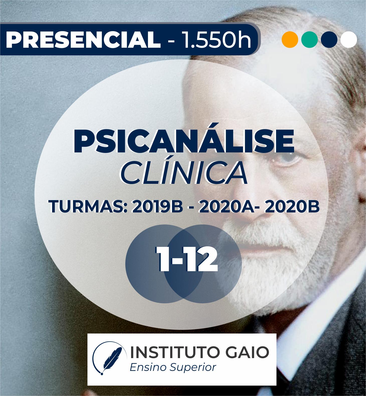 FORMAÇÃO DE PSICANÁLISE CLÍNICA – PRESENCIAL -1.550HORAS