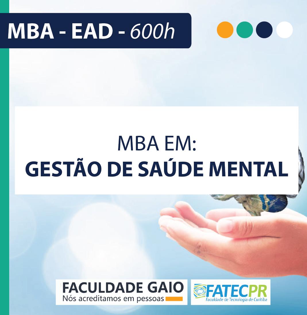 MBA em Gestão de Saúde Mental – 600h – MBA1